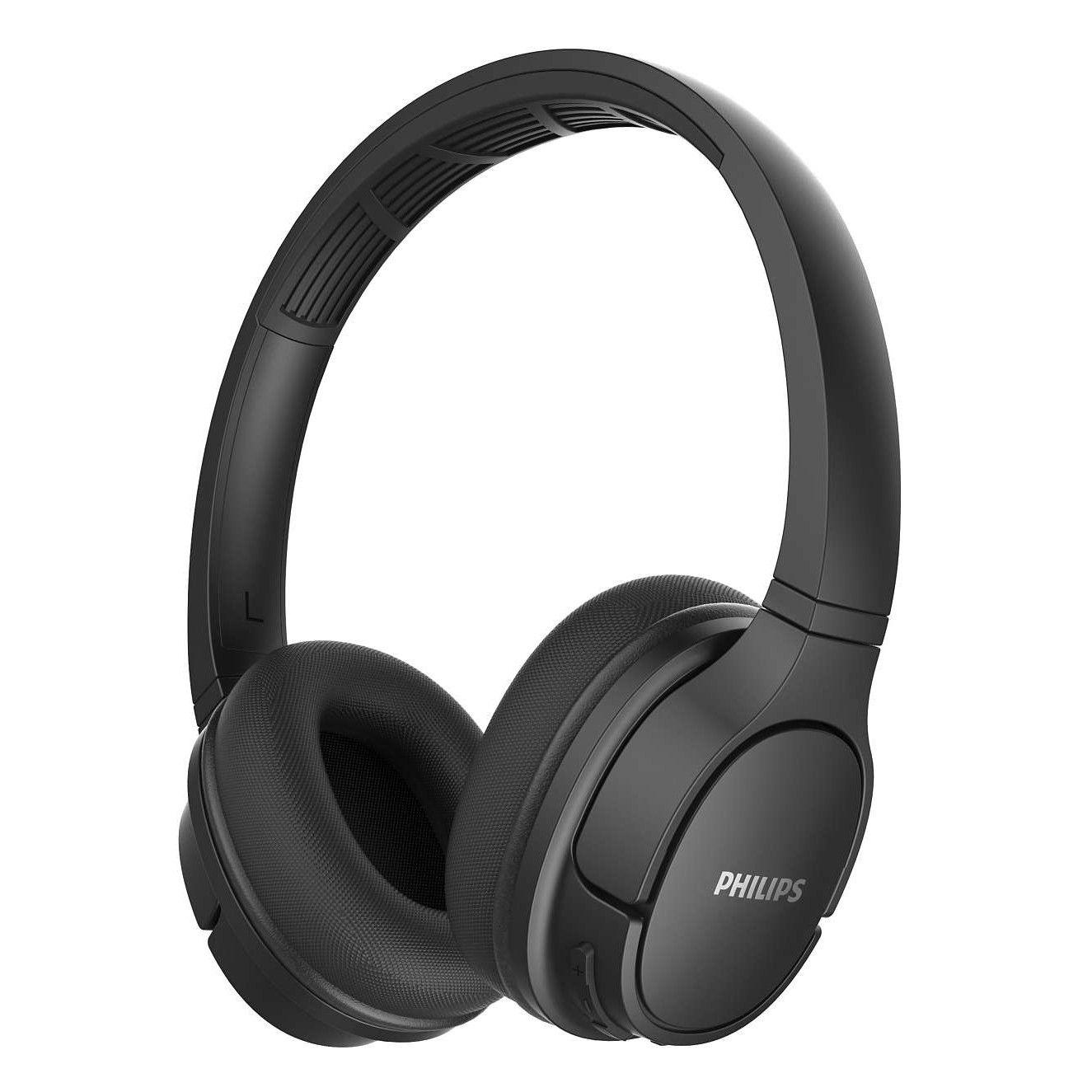Fotografie Casti Audio On-Ear Sport Philips, TASH402BK/00, Bluetooth, Autonomie 20h, Negru