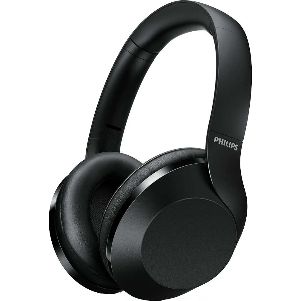 Fotografie Casti Audio Over-Ear Philips, TAPH805BK/00, Bluetooth, Active Noise Cancelling, Autonomie 30h, Negru