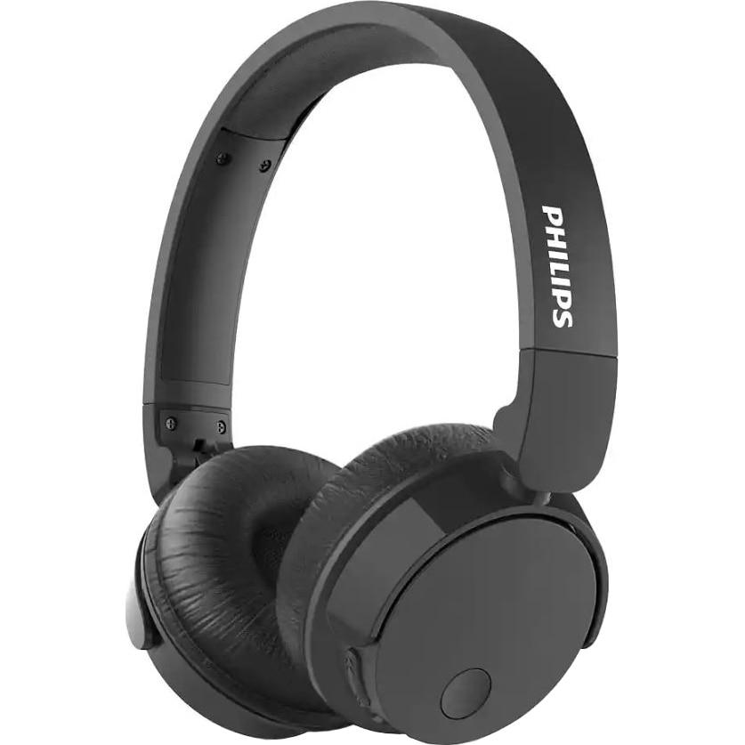 Fotografie Casti Audio On-Ear Philips, TABH305BK/00, Bluetooth, Active Noise Cancelling, Autonomie 18h, Negru