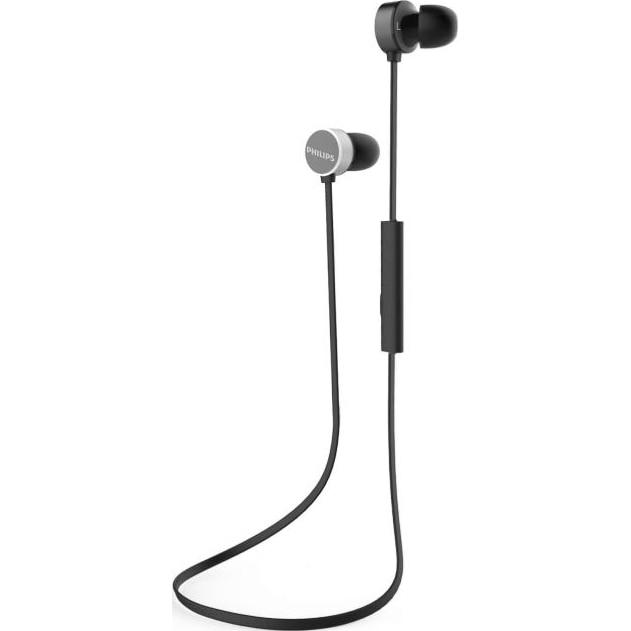 Fotografie Casti Audio In-Ear Philips, TAUN102BK/00, Bluetooth, Autonomie 7h, Negru