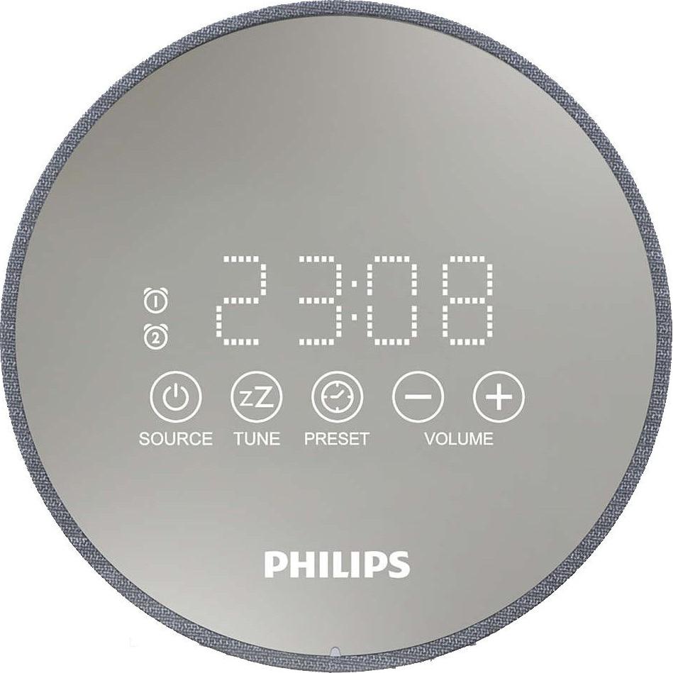 Fotografie Radio cu ceas PHILIPS TADR402/12, argintiu