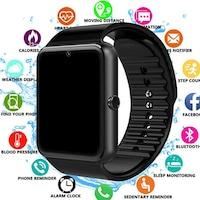 Смарт часовник, GT08 Smart Watch, СИМ Карта, iOS/ Android, Bluetooth, Снимки, Обаждания, Радио, Черен