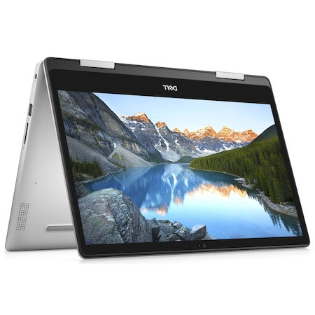 Лаптоп Dell Inspiron 5491 2in1 с Intel Core i5-10210U (1.60/4.20 GHz, 6M), 16 GB, 1TB M.2 NVMe SSD, Intel UHD Graphics 620, Windows 10 Home 64-bit, сребрист