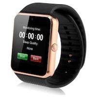 Смарт часовник, GT08 Smart Watch, СИМ Карта, iOS/ Android, Bluetooth, Снимки, Обаждания, Радио, Златен