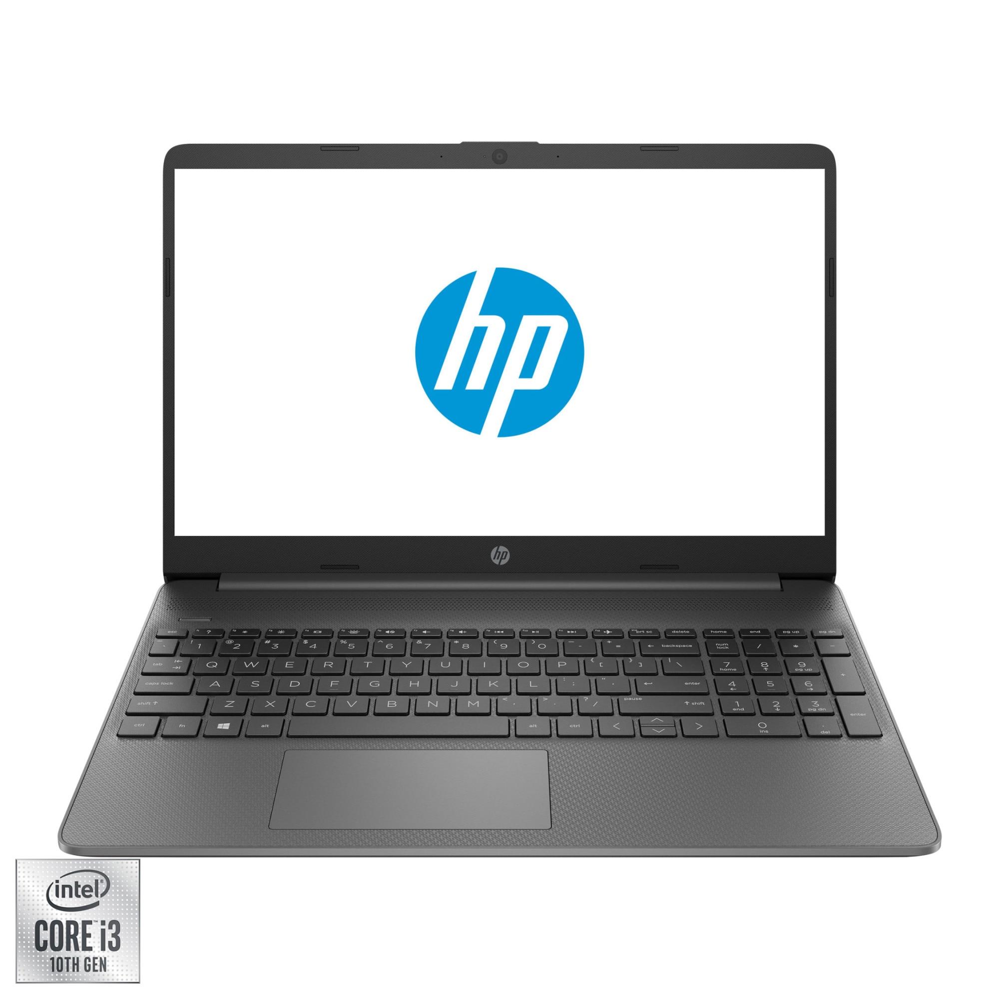 "Fotografie Laptop HP 15 15s-fq1010nq cu procesor Intel® Core™ i3-1005G1 pana la 3.40 GHz, 15.6"", Full HD, 8GB, 256GB SSD, Intel UHD Graphics, Free DOS, Gray"