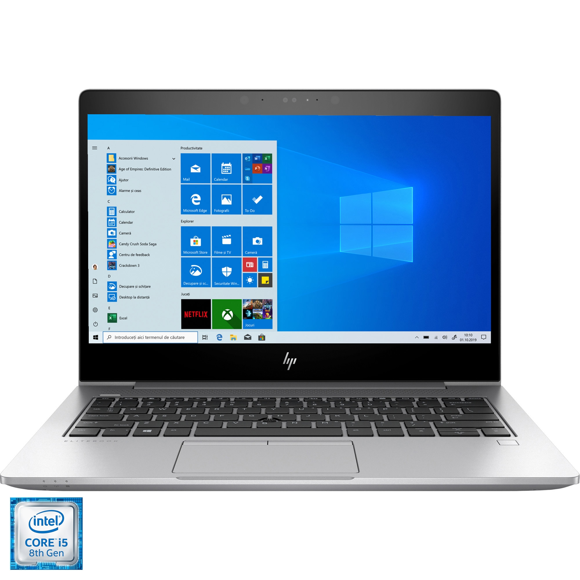 "Fotografie Laptop ultraportabil HP EliteBook 830 G6 cu procesor Intel® Core™ i5-8265U pana la 3.90 GHz Whiskey Lake, 13.3"", Full HD, 16GB, 512GB SSD, Intel UHD Graphics, Windows 10 Pro, Silver"