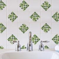 Öntapadós csempe matrica zöld mozaik, 2 x 30 x 30 cm