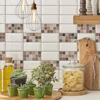 Öntapadós csempe matrica barna mozaik márvány, 2 x 30 x 30 cm