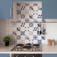 Öntapadós csempe matrica kék, 3 x 20 x 20 cm
