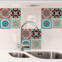 Öntapadós csempe matrica Marokkó színes, 3 x 20 x 20 cm