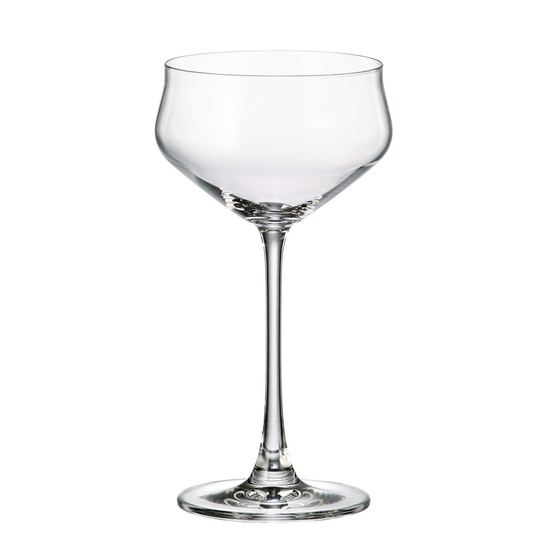 Fotografie Set 6 pahare martini Bohemia Alca, cristalin, 235 ml