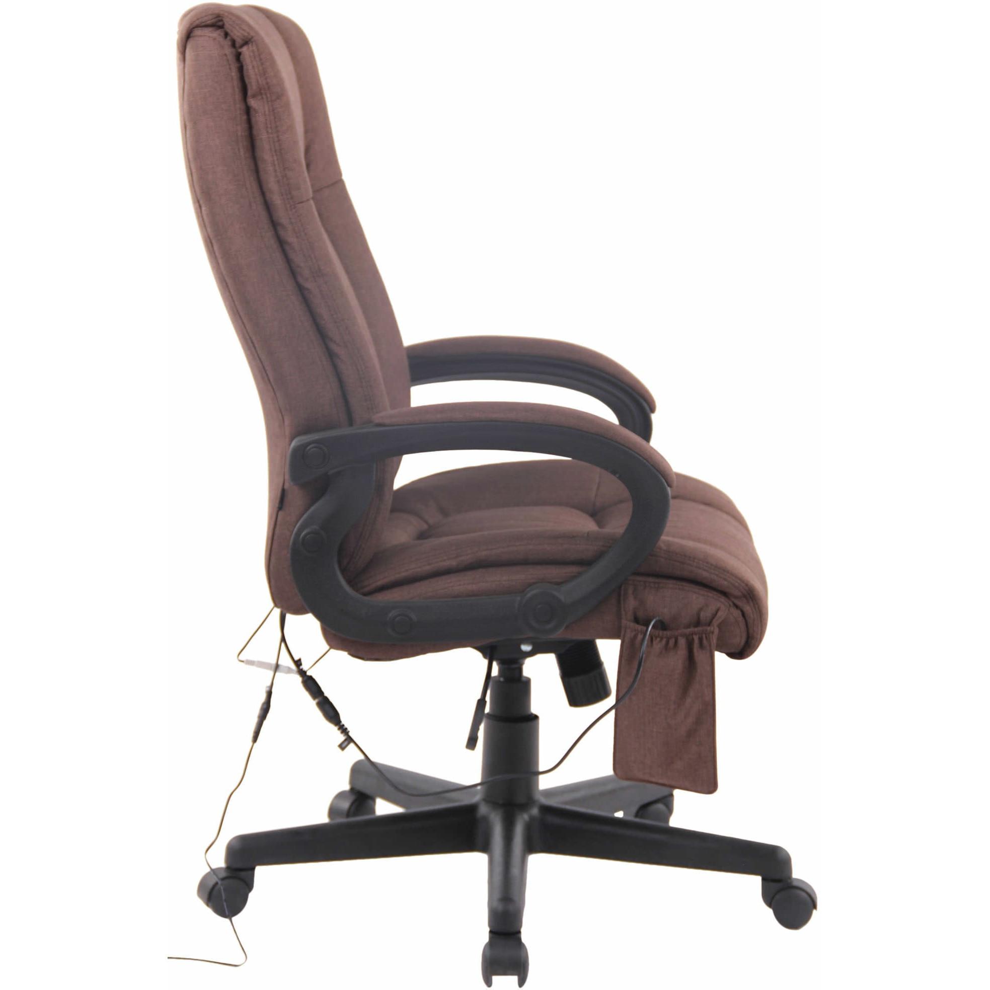 Sparta XL extra kényelmes főnöki szék masszázzsal (140 kg), barna szövet eMAG.hu