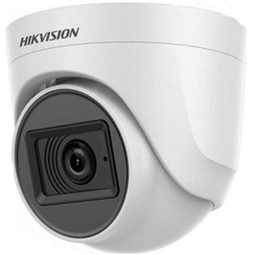 Fotografie Camera supraveghere Hikvision Turbo HD dome DS-2CE76D0T-ITPFS(2.8mm), 2MP, Audio over coaxial cable, microfon audio incorporat, lentila 2.8mm, IR 20metri, carcasa plastic, alimentare 12VDC