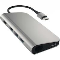 Адаптер Satechi Aluminium TYPE-C Multi-Port Adapter (HDMI 4K,3x USB 3.0,MicroSD,Ethernet), Space Grey