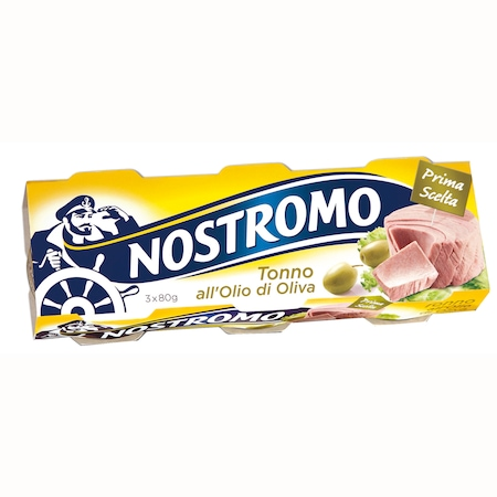 Ton in ulei masline Nostromo 3x80g, 240g