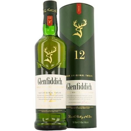 Whisky Glenfiddich 12YO, Single Malt 40%, 0.7l