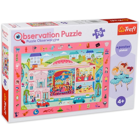 Puzzle Trefl Observation puzzle We're visiting the opera, 70 piese