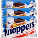 Napolitana Knoppers cu ciocolata si alune, 3x25 gr.