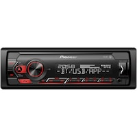 Radio MP3 auto Pioneer MVH-S320BT, 1DIN, Bluetooth, Spotify, 4x50W, USB, compatibil cu dispozitive Android, taste Rosu, display Alb