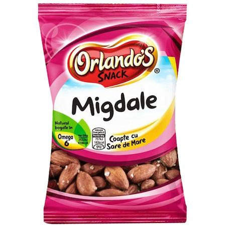 Migdale in coaja coapte cu sare Orlandos Snack, 150g