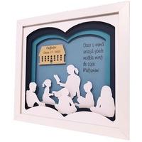 Tablou 3D, luminos, personalizabil pentru profesoara/invatatoare/educatoare, Noor Handmade Atelier, 25 x 25cm