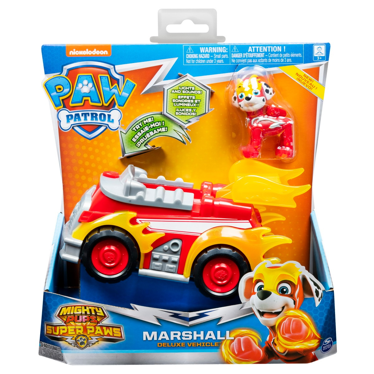 Fotografie Set figurina cu vehicul Paw Patrol - Mighty Pups, Marshall