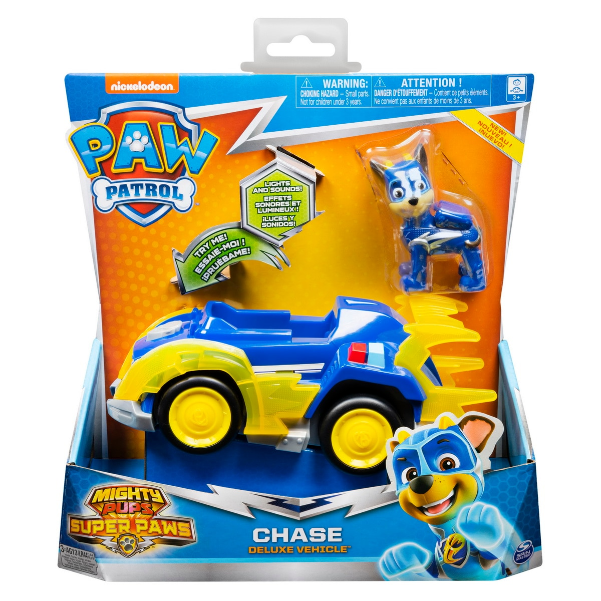 Fotografie Set figurina cu vehicul Paw Patrol - Mighty Pups, Chase