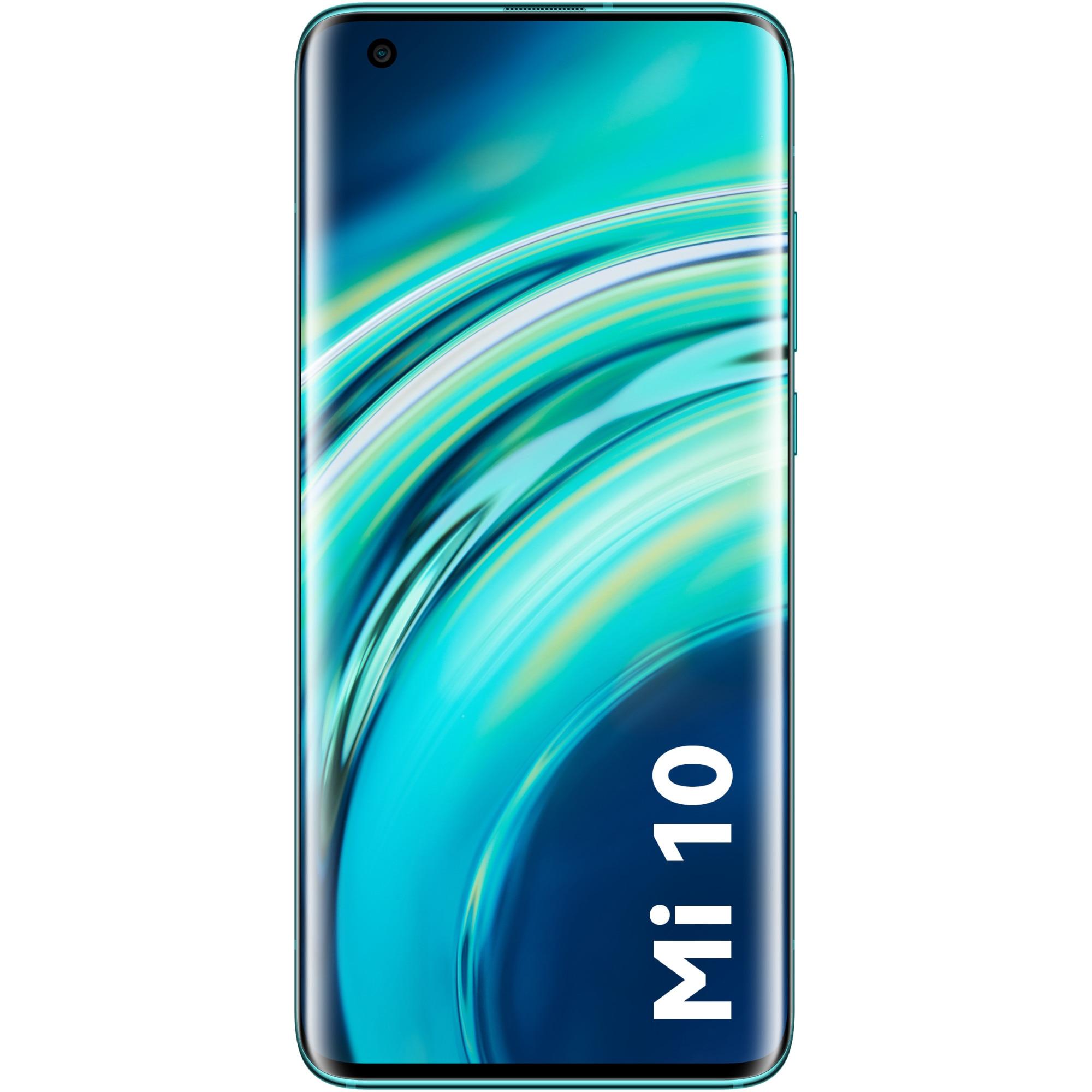 Fotografie Telefon mobil Xiaomi Mi 10, 128GB, 8GB RAM, 5G, Coral Green