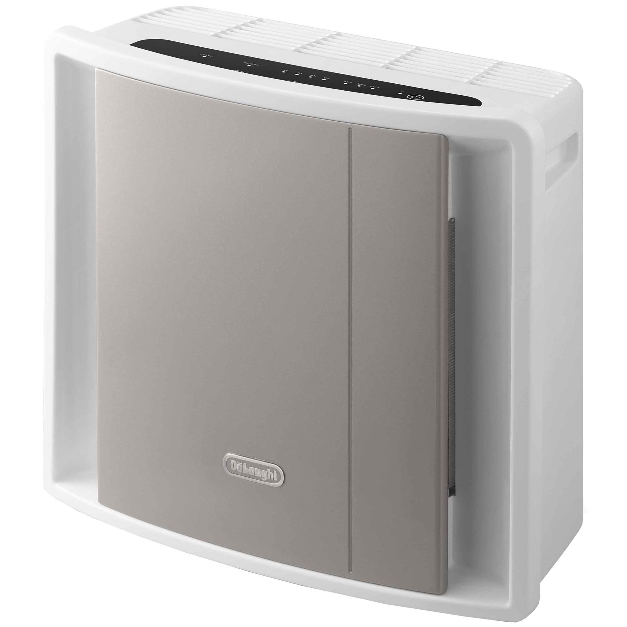 Fotografie Purificator de aer DE'LONGHI AC100, 130 m3/h, filtru HEPA + carbon activ, functie ionizare, recomandat pana la 40 m2