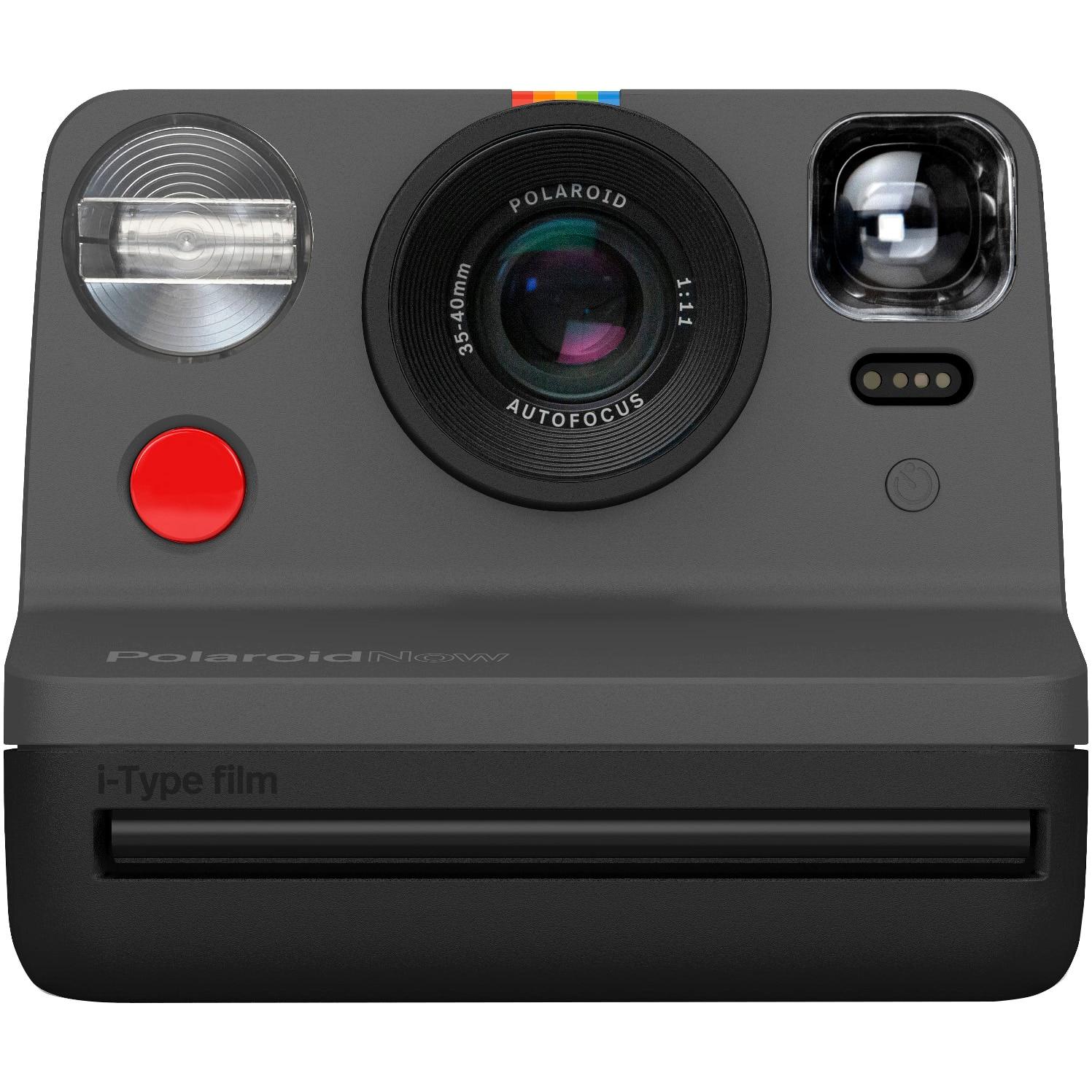 Fotografie Camera Foto Instant Polaroid Now, I-Type, Negru