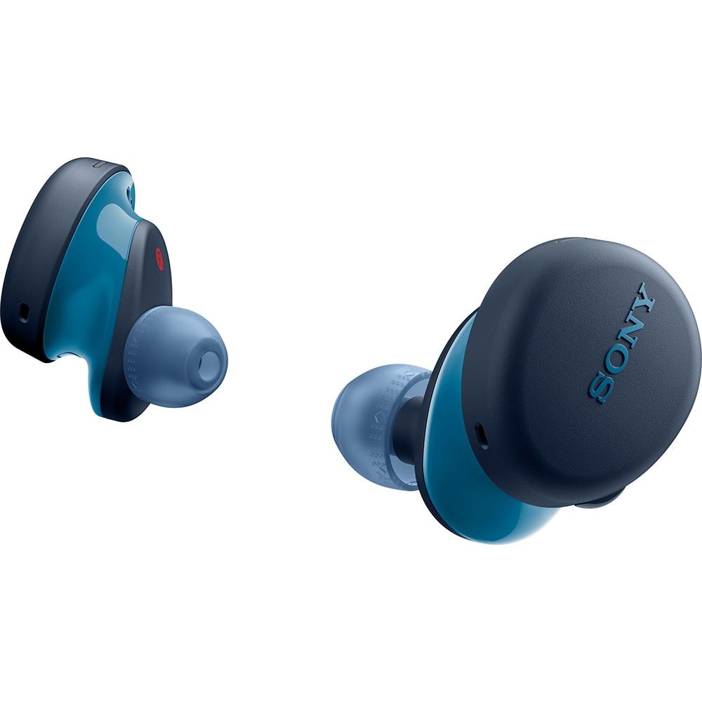 Fotografie Casti in-ear true-wireless Sony WF-XB700L, EXTRA BASS, Google Assistant, Bluetooth, Rezistenta la stropire IPX4, Autonomie baterie de 9 ore, Albastru