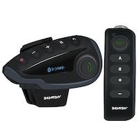 Motorkerékpár kommunikációs rendszer EJEAS V8 beszélgetés akár 5 lovas számára egyszerre, Távirányító, NFC, Bluetooth, FM rádió