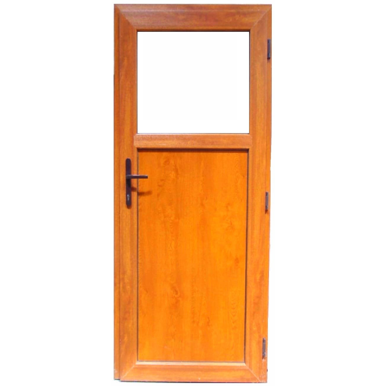 Fotografie Usa termopan PVC X-Stru Systems H, 1880 x 860 mm, 4 camere, fara prag, deschidere pe dreapta, Stejar auriu