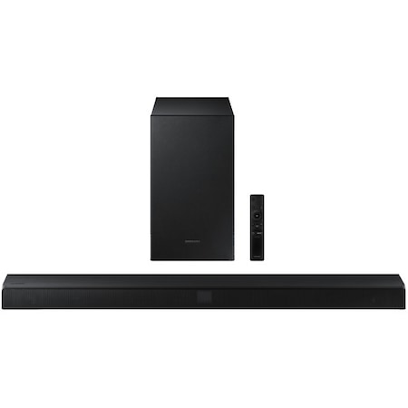 Soundbar Samsung HW-T550, 2.1 канала, 320W, Wireless Subwoofer, Bluetooth, Черен