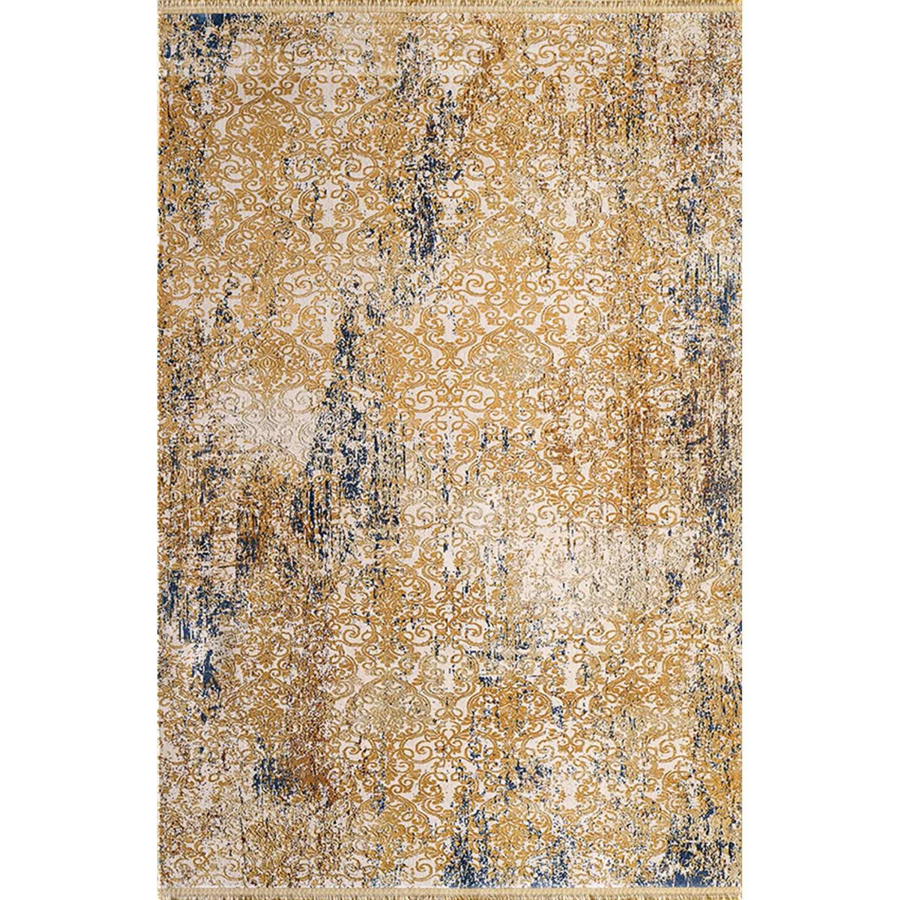 Fotografie Covor Palette Pierre Cardin, antistatic, acrilic, 200x290cm, portocaliu/alb/albastru, PA14D