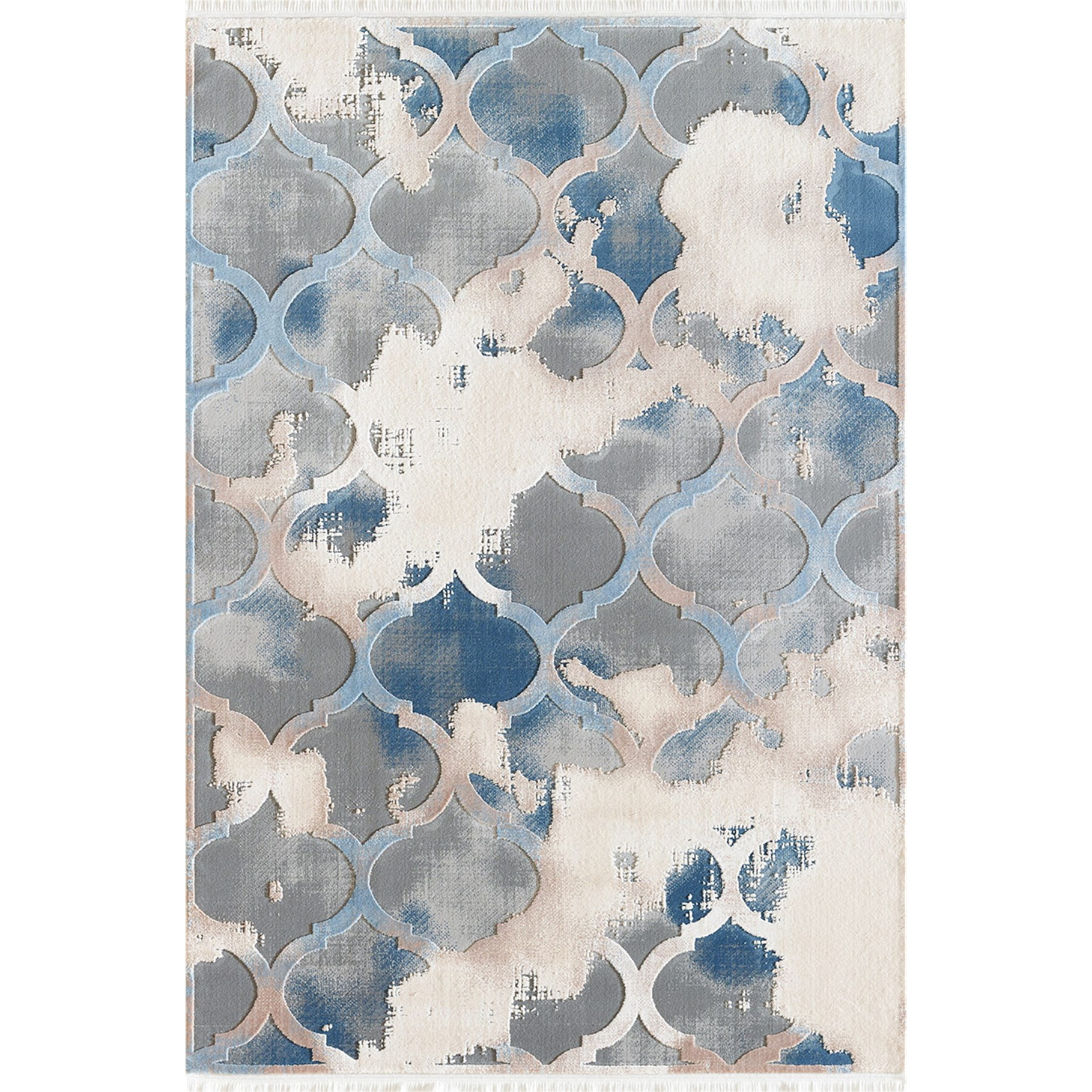 Fotografie Covor Girit Pierre Cardin, antistatic, acrilic, 80x150 cm, albastru/crem, GR03C