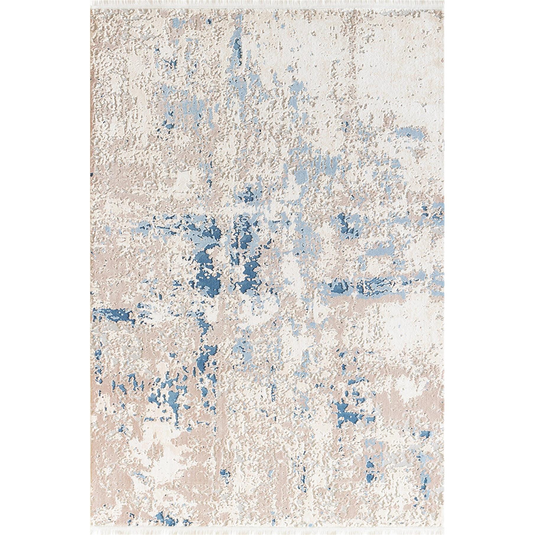 Fotografie Covor Girit Pierre Cardin, antistatic, acrilic, 80x150 cm, albastru/crem, GR12B