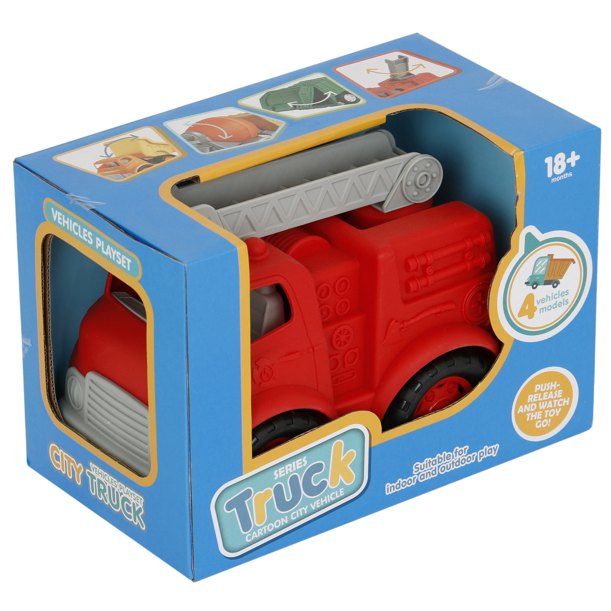 Fotografie Masinuta M-Toys Pompieri, 28 cm