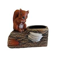 Ghiveci flori tip buturuga, ceramica, veverita, 17hx33Lx23l gradina/foisor/balcon, ornament, maro