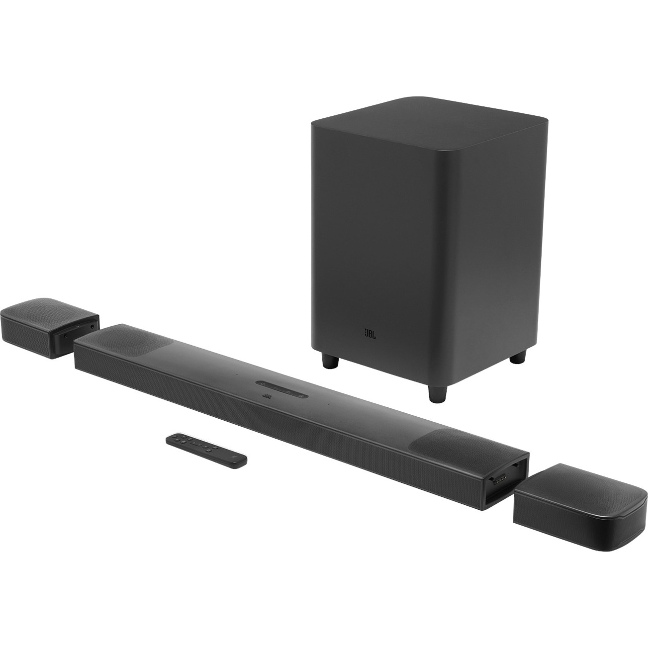 Fotografie Soundbar JBL Bar 9.1 True Wireless Surround, 5.1.4, 820W, 4K, Dolby Atmos, HDMI, Bluetooth, Wi-Fi, Chromecast, Airplay 2, Negru
