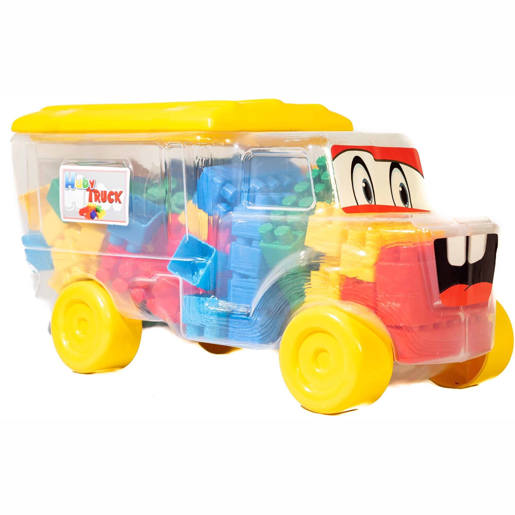 Fotografie Set constructie - Camion cu cuburi, galben