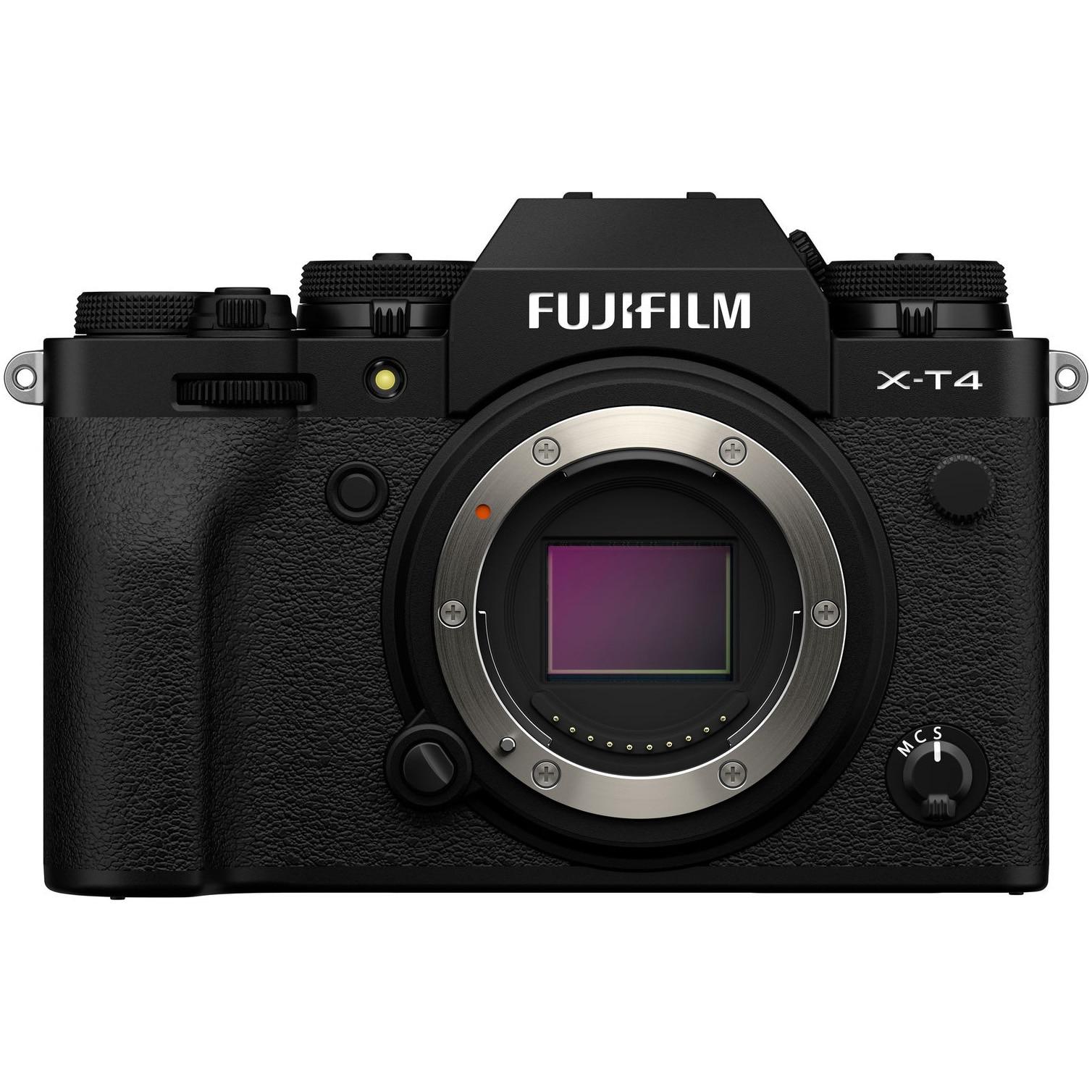 Fotografie Aparat foto Mirrorless Fujifilm X-T4, 26.1 MP, 4K, Body, Black