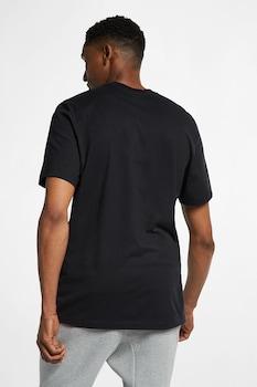 Nike, Tricou cu logo si decolteu la baza gatului JDI, Negru