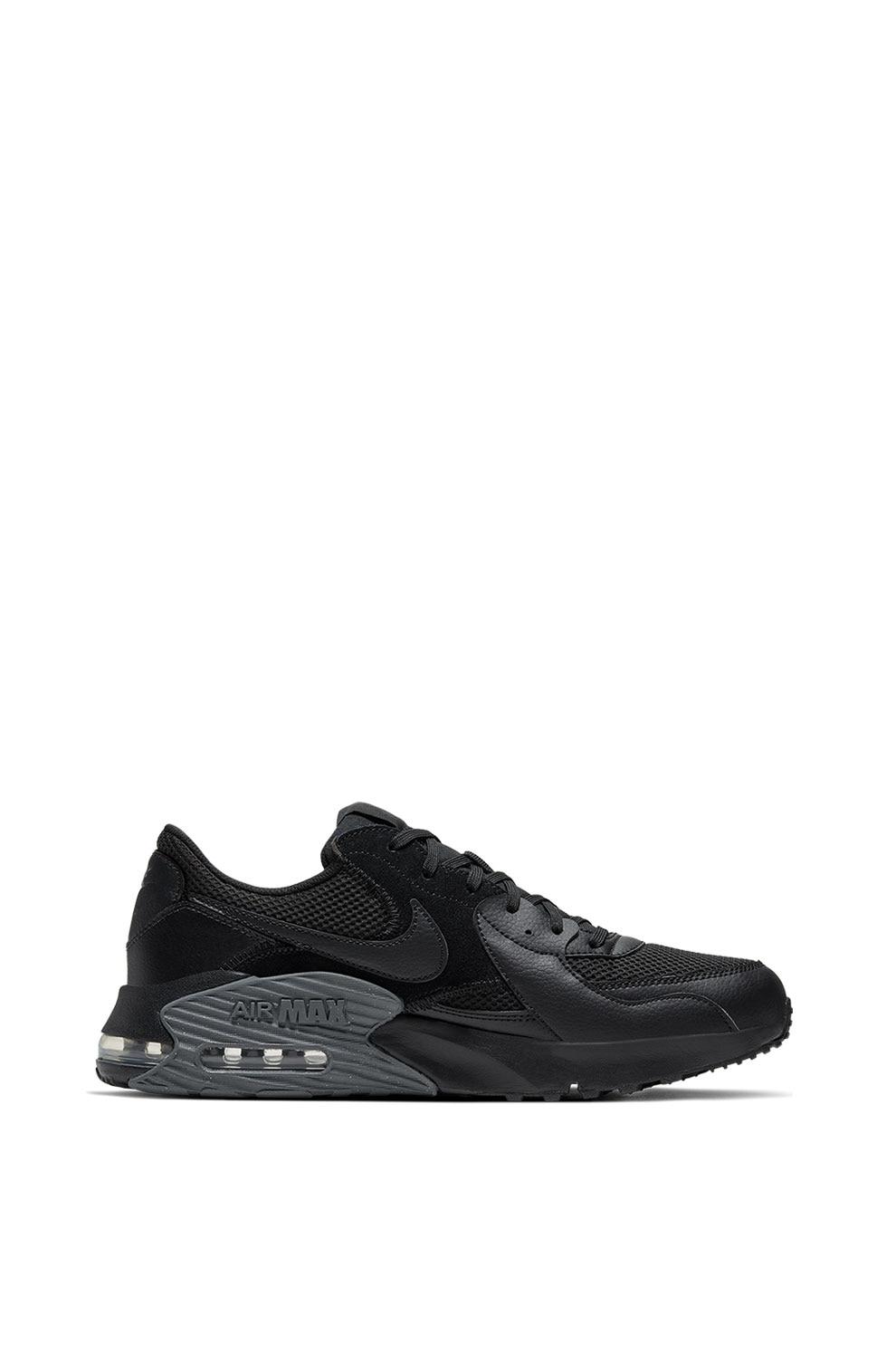 Línea de visión suma Inspeccionar  Nike, Pantofi sport cu garnituri din piele intoarsa Air Max Excee, Negru,  10 - eMAG.ro