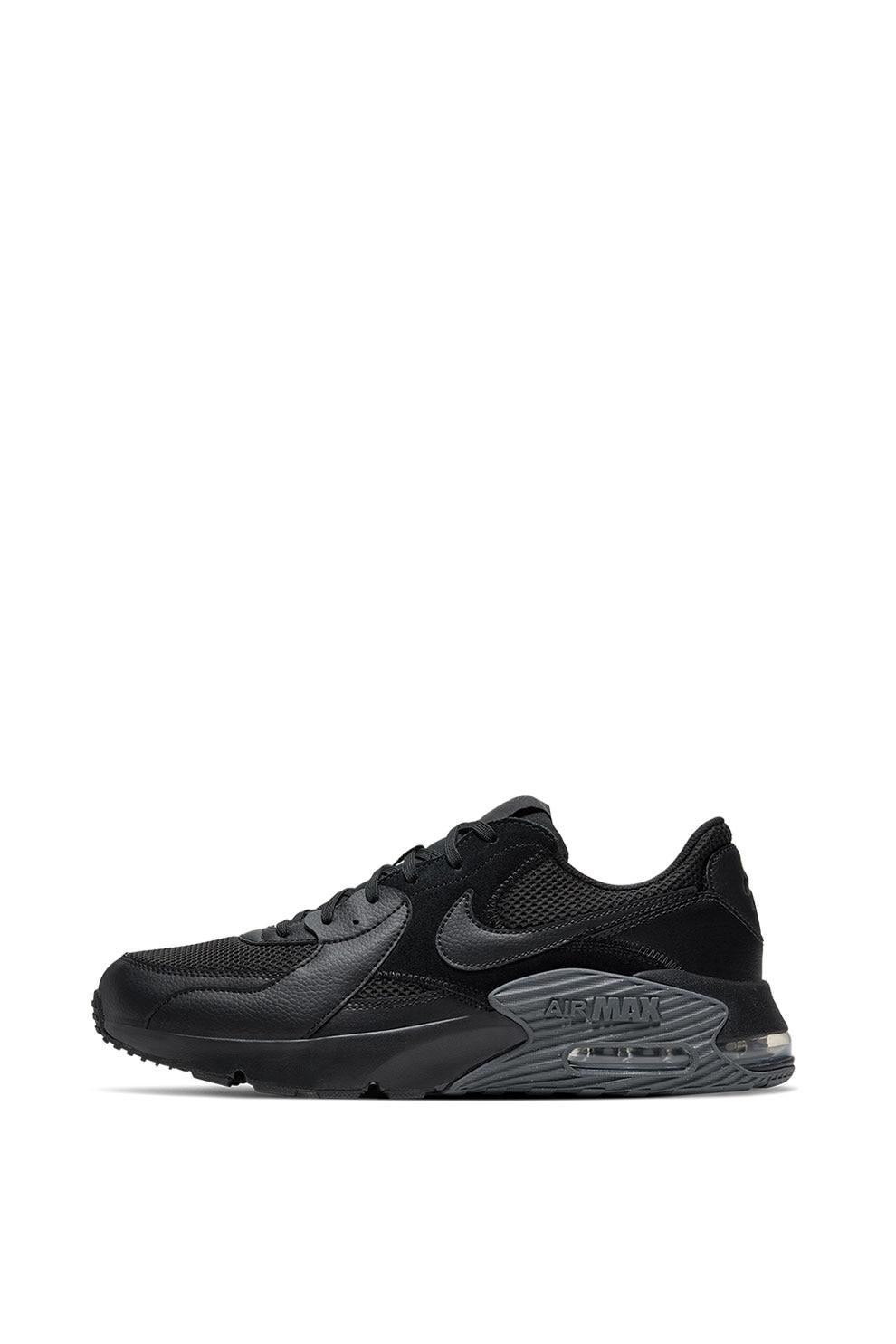 Reclamación subasta Monopolio  Nike, Pantofi sport cu garnituri din piele intoarsa Air Max Excee, Negru, 8  - eMAG.ro
