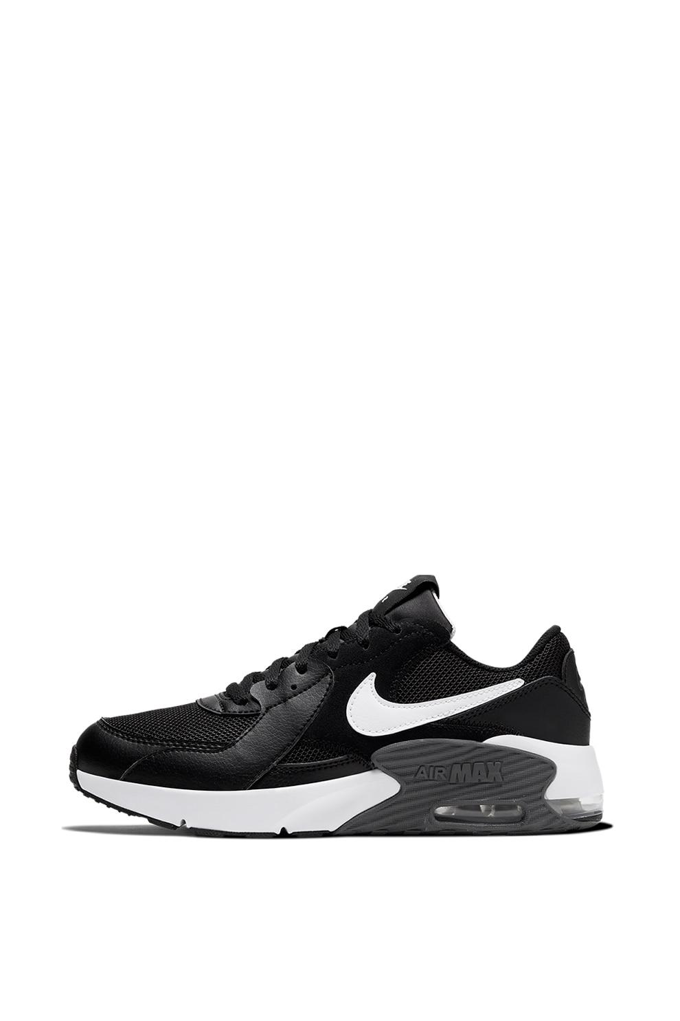 Sinis sequía Es una suerte que  Nike, Pantofi sport cu garnituri de piele si piele intoarsa Air Max Excee,  Negru/Alb, 35.5 EU - eMAG.ro