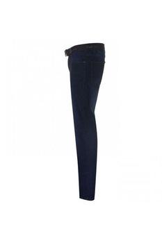 Мъжки памучни дънки Pierre Cardin Web Belt, Тъмносин, Тъмносин