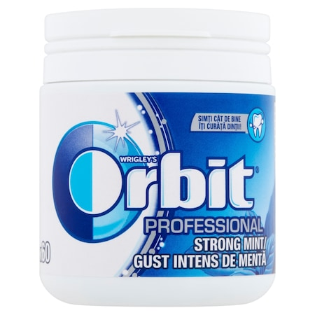 Guma de mestecat 60 buc Orbit Professional Strong Mint, 84g