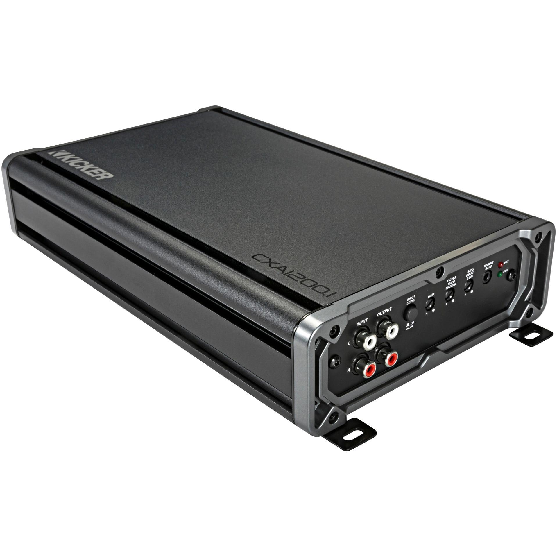 Fotografie Amplificator auto, Kicker CXA12001 , Seria CX; Mono , Clasa D , 1200W x 1+/-10 la 1 ohm , 1200W x 1 la 2 ohmi, 600W x 1 la 4 Ohmi