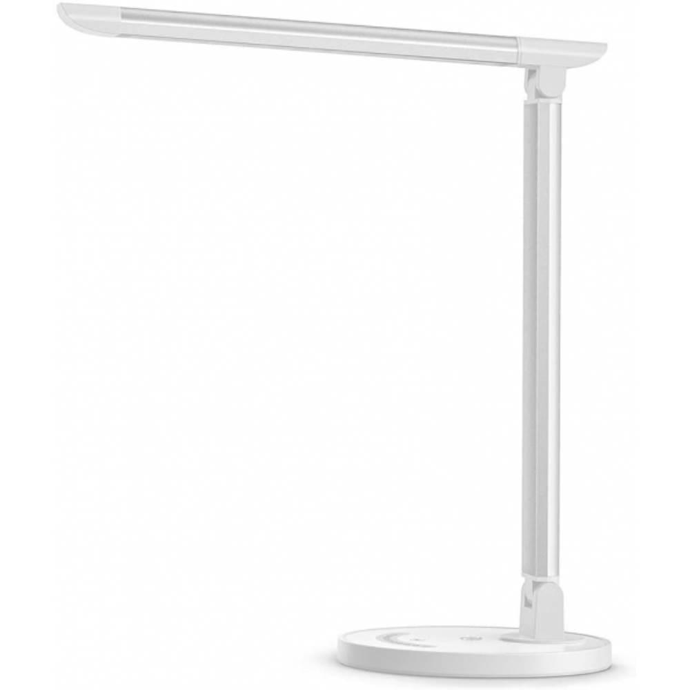Fotografie Lampa LED de birou TaoTronics TT-DL13, control touch, 5 moduri lumina, USB 5V/1A, 12W, 410 lm, Alb